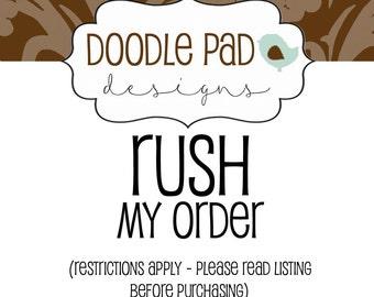 RUSH my order - Add On
