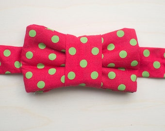 Holiday Bow Tie for Cats -Polka Dot