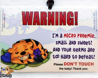 Micro Preemie Sign - THE SEACATS, Please Don't Touch the Baby, MicroPreemie Carrier and Stroller Sign for Premature Babies