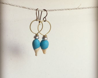 Lampwork Dangle Earrings