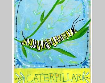 Animal Totem Print - Caterpillar