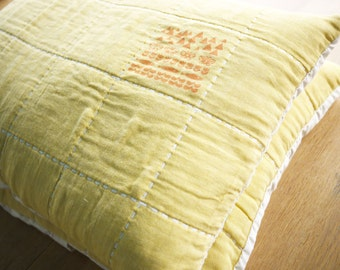 yellow Gauze pillow cases