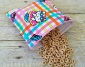 Beach Kitty - Medium Reusable Sandwich Bag from green by mamamade