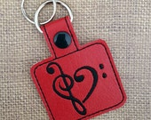 Embroidered Key Chain - Love Note