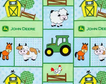 MadieBs  John Deere Farm Animals  Kinder Nap Pad Cover Personalized