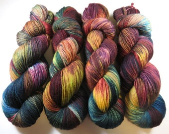 Handpainted Ultra Merino Superwash Sock/Fingering -- The Library at Downton