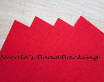 Nicoles BeadBacking 4 pack 12x9 True Red