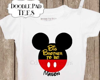 Big Brother Shirt, Big Sister Shirt, Disney Pregnancy Announcement