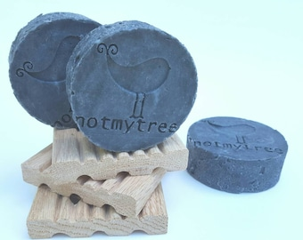 Charcoal Clay Soap, Face Soap, Vegan Soap, Handmade Soap, Old Fashioned Soap, Natural Soap, Stocking Stuffer for Her, Beauty Gift, Christmas