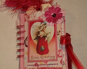 Vintage Style Valentine Mini Paper Bag Album