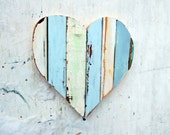 Aqua Heart, Nursery Decor, Bohemian Wall Art, Reclaimed Wood Art, Wood Wall Art, Boho Nursery Decor, Wooden Heart Mosaic, Wood Wall Heart