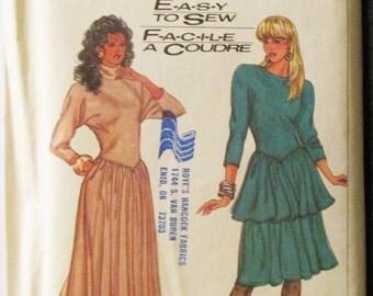 WEEKEND SALE 1980s Vintage Sewing Pattern Simplicity 8284 Misses Dress Pattern Size 6-12 Uncut