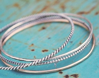 Handmade Bangles, Set of 4