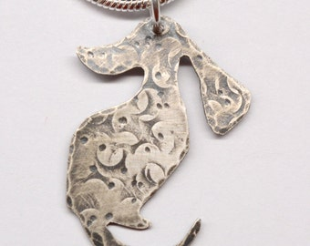 Sterling Silver Dachshund Pendant Necklace PN2456