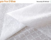 Japanese Fabric woven voile - white -  50cm