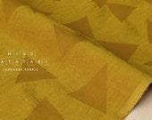 Japanese Fabric Kokka Tsumiki Enshuku Corduroy triangles - mustard - 50cm