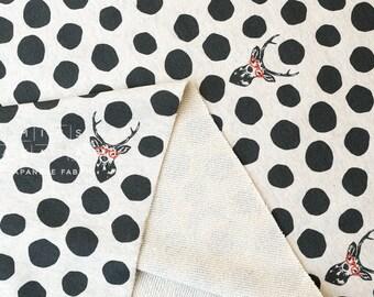 Japanese Fabric Echino Kokka French Terry Knit - samber - A - 50cm