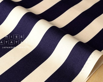 Japanese Fabric stripes canvas - navy blue - fat quarter