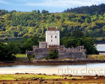 DOE CASTLE, Rosguill Peninsula, Co. Donegal, IRELAND Photo, Irish Landscape Photography, Medieval Castle, Celtic Decor, Mac Sweeney,Fortress