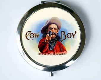 Cowboy Stars Compact MIRROR Pocket Mirror western
