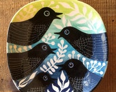Bird Call large plate