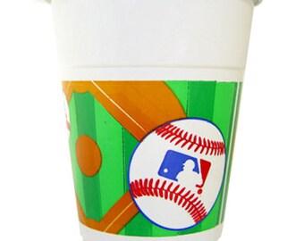 Major League Baseball Plastic Cups-25 Count*NEW