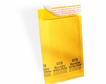 """12PC Yellow in Kraft Padded Envelopes Size 000 small 4x7"""""""