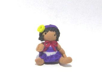 Dolls Miniature  dollhouse  Handmade Teeny Weeny miniature micro dolls