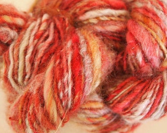 SIERRA Handspun Wool Yarn Coopworth Yearling Fleecespun 87yds 2.0oz 7-8wpi aspenmoonarts knitting artyarn