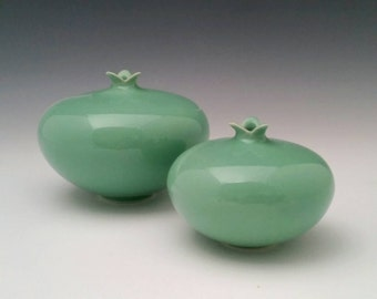 Ceramic Vessel Pomegranate Vase Modern Minimalist Pottery Set