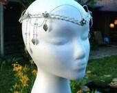ON SALE Ivy Leaf Elven Tiara Headdress, Fairytale Wedding Crown, Elvish Headpiece, Cosplay, Tribal Belly Dance Headdress