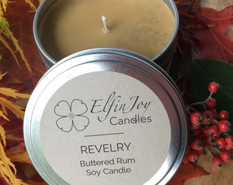 SALE Buttered Rum REVELRY Soy Container Candle
