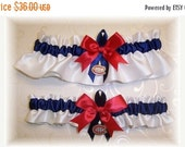 SALE 10% OFF Handmade Wedding Garter Set With Montreal Canadiens charms Satin W-Nrn