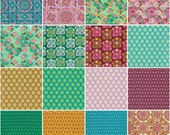 Dream Weaver 10 inch squares by Amy Butler for Freespirit fabric 42 squares