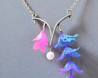 Underwater Dream Necklace Made With Plastic Coral Reef Plants