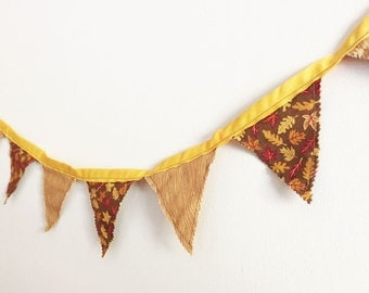 Autumn Bunting, Fall Banner, Thanksgiving