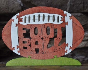 Colorful Football  Wooden Puzzle Award Toy Hand Cut  with Scroll Saw