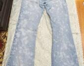 SALE Hippie Boho High Waisted Faded Bleached Flared Jeans Sz 5