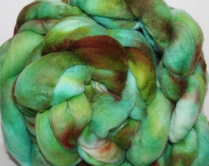 Kette Dyed Polwarth wool top. Roving. Spin. Felt. Super Soft. 1lb. FREE SHIP #P17