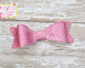 Pink Glitter Bow - 3D Bow - Girls Bow - Toddler Bows