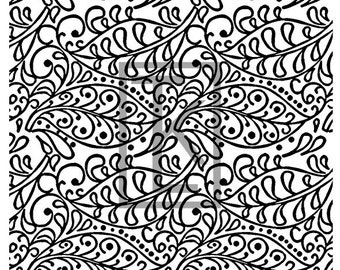 Filigree Leaves Silk Screen (L54)
