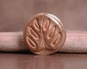 Rustic Handmade Goldie Bronze Metal Clay Small Shank Button Leaf  Divine Spark Designs SRA