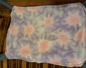"Snuggly D Rat Hammock-""tie dye"" design-pale blue/pink/lavender fleece"