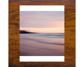 8x8 print [JCP-095] - manly beach PINK, sunset, beach photography, sydney, australia, abstract, impressionist photography