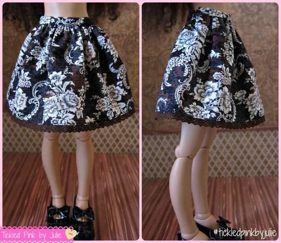MiniFee Slim MSD Floral Arabesque Skirt by Tickled Pink by Julie