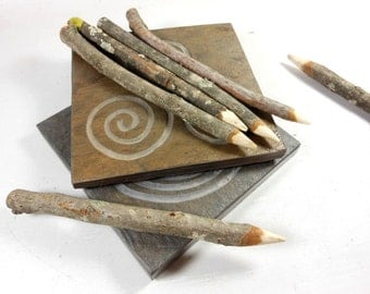 Additional TWIG TRACING STICK for Labyrinth Stones - Finger Maze Twig Stylus for Meditation Tile, Tree Branch Tracing Stick, Wooden Stylus