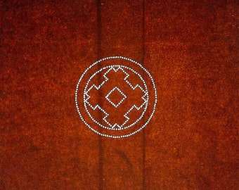 Vintage Japanese Stencil - Vintage Stencil -  Family Crest Stencil - Kamon Igeta Symbol  (96)