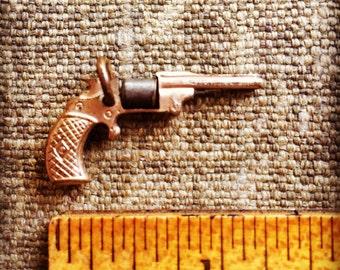 On Hold - 1950s Vintage Moving Charm - Revolver Charm - Bracelet Charm