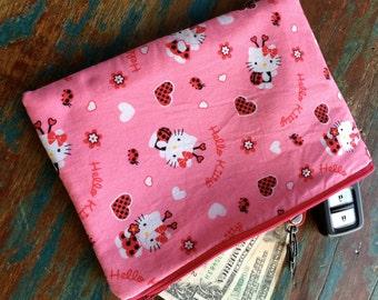 medium zipper pouch hello kitty