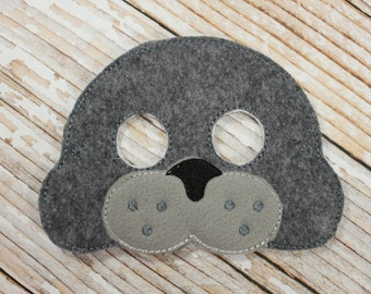 Seal Mask - felt Seal mask for Birthday Parties, Halloween, or Dress-up Play, Seal Halloween Mask, Seal Halloween Costume